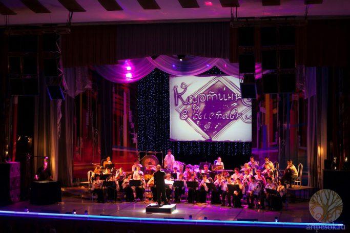 Песочное выступление с оркестром 1