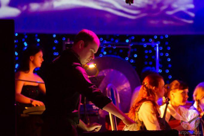 Песочное выступление с оркестром 11