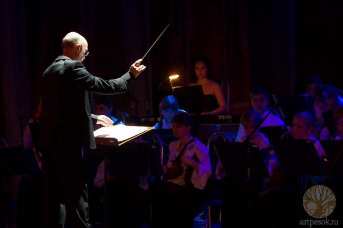 Песочное выступление с оркестром 3