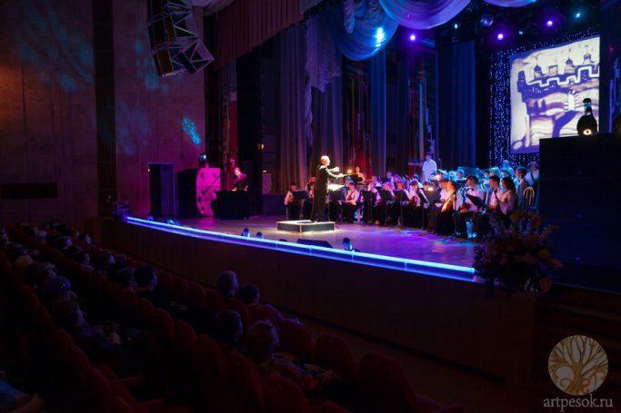 Песочное выступление с оркестром 4