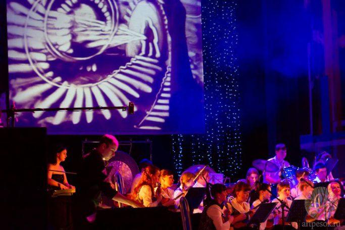 Песочное выступление с оркестром 7
