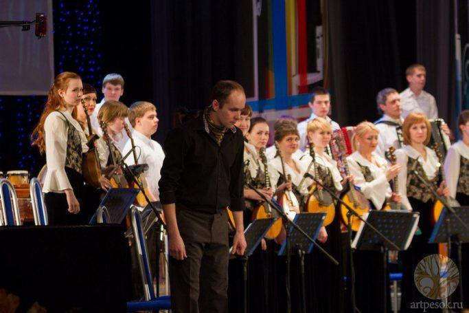 Песочное выступление с оркестром 9