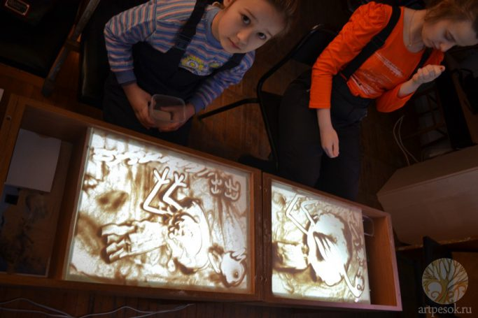 Занятия по рисованию песком