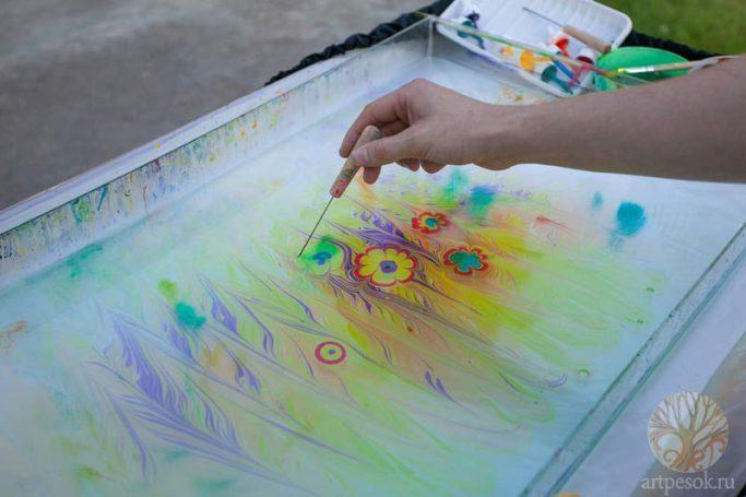 Рисование на воде. Шоу и мастер-классы
