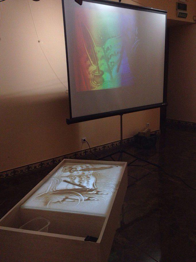 Обучающий семинар по рисованию песком